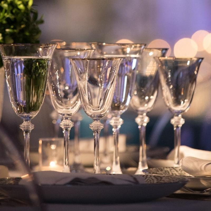 Empire Platinum Stemware
