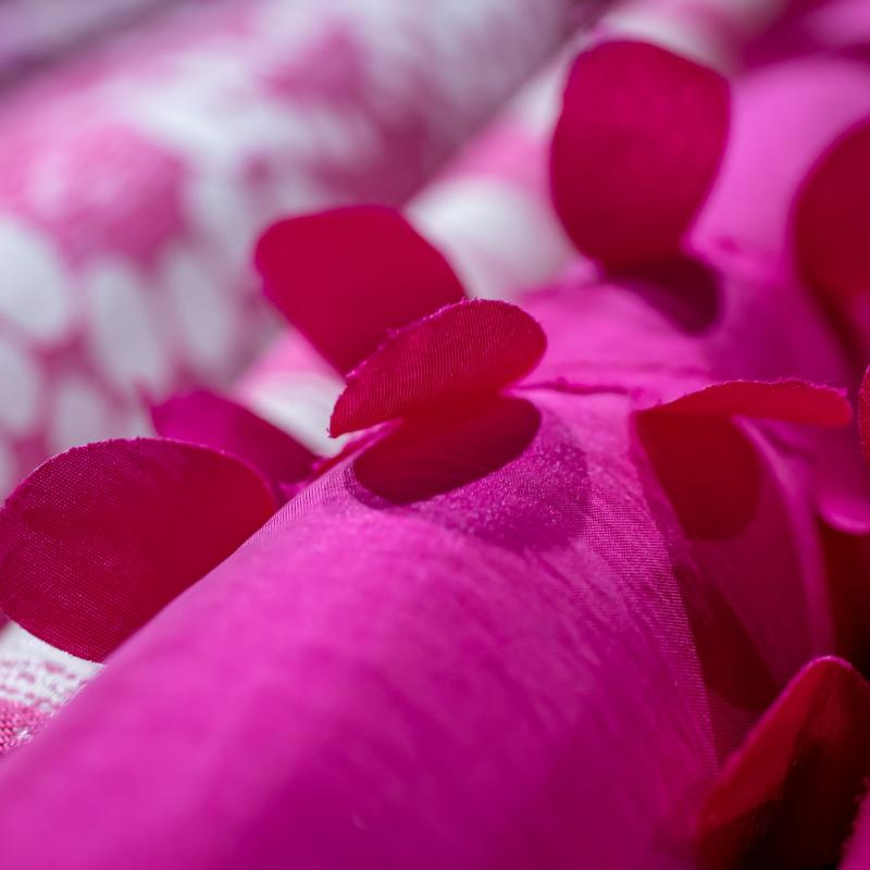 Abstract Linen Fuchsia